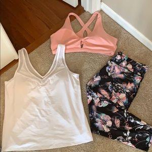 Fabletics sports bra, pants and tank! XXL